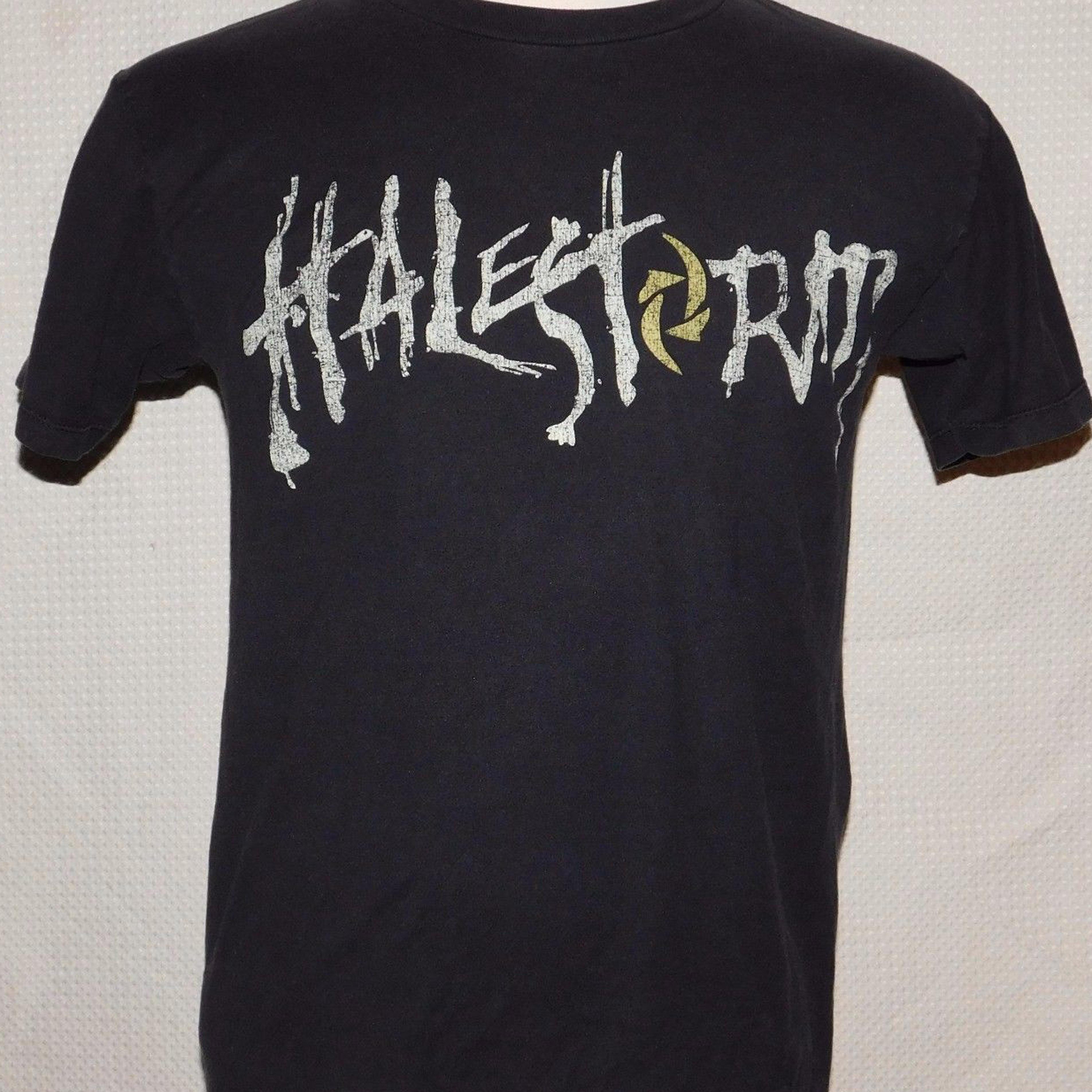 Short Sleeve Summer Style Mens Halestorm Hard Rock Band Skull & Arrow Print T Shirt Sz M Lzzy Hale