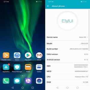 Image 3 - Oryginalny HONOR 8X telefon komórkowy 6.5 cala 6GB 128GB Kirin 710 Octa Core Android 9.0 3750mAh odcisk palca odblokuj sklep Google Play
