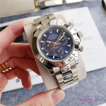 rolex- Luxury New Men Automatic Mechanical Watches Drive Ceramic Bezel Crystal Sapphire Sport AAA Watch 2354