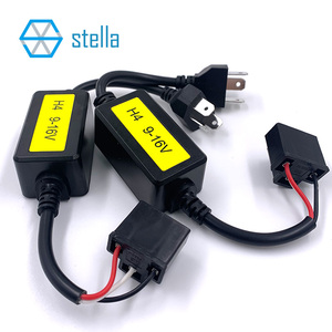 Image 3 - Stella 2 pcs H4 canbus decoder for auto lamp capacitance decoding solve light flashing/ high beam doesnt work canbus problem