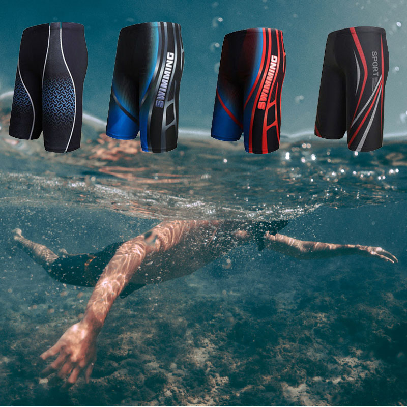 Surf-Board Trunks Boxer Swimming-Shorts Quick-Dry Brief Para Fashion Men Elastic Printed