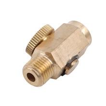Клапаны пневматический латунный регулятор потока глушитель воздушный глушитель для автомобиля Золотой Пневматический регулятор скорости клапан головка