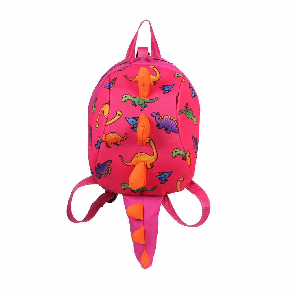 Dziecko dziewczynki chłopcy plecak dzieci kreskówka dinozaur plecak z nadrukiem zwierząt maluch tornister dla dziecka kreskówka na co dzień tornister