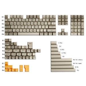 159 ключей полный набор SA профиль 1980с keycap ABS двойной выстрел Серый Белый Желтый keycaps для заказной механической клавиатуры