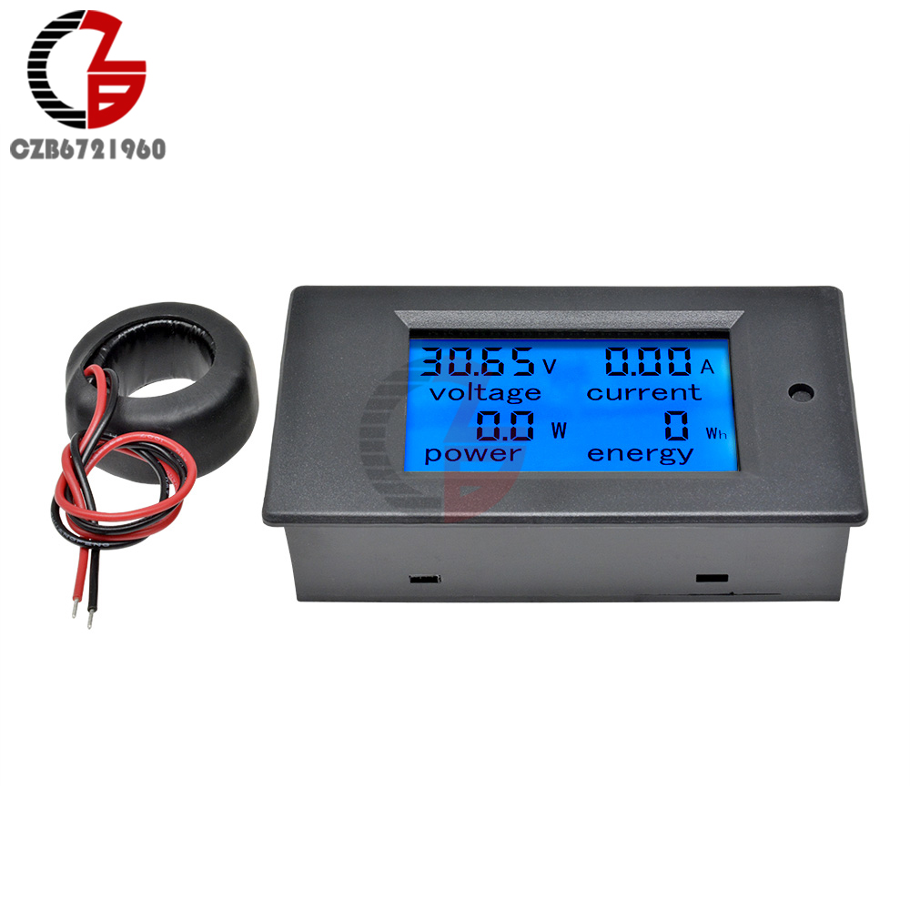 50a/100a ac 80-260 v/dc 6.5-100 v digital voltímetro amperímetro wattmeter medidor de energia 12 v 24 v 110 v 220 v volt tester detector