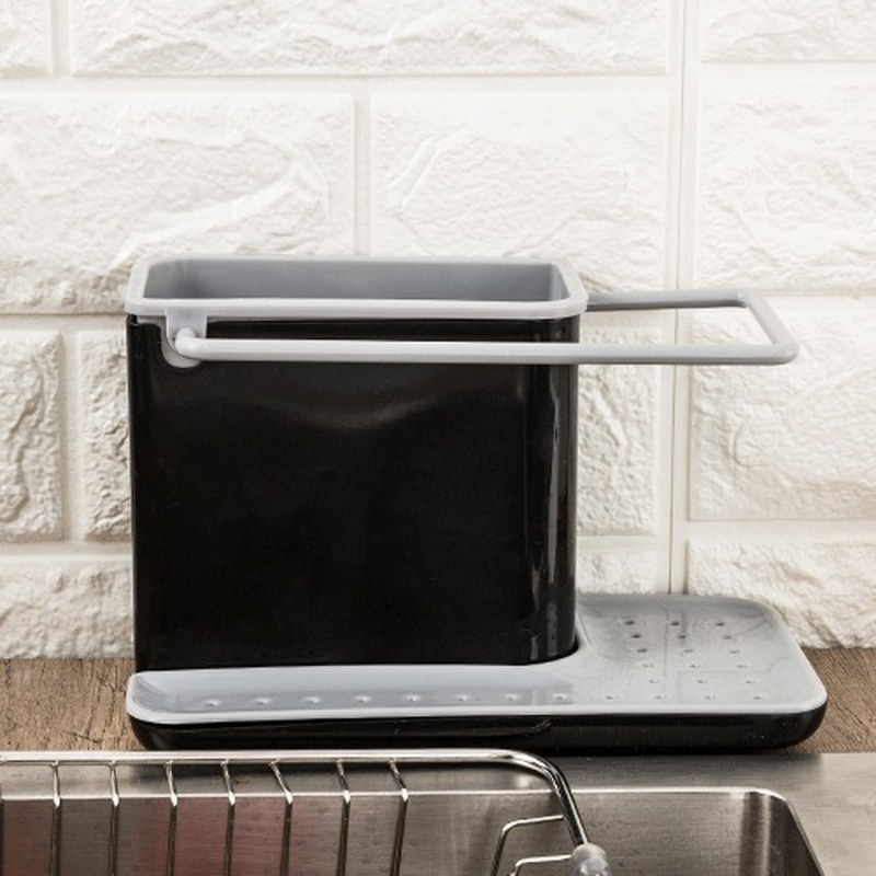 Kitchen Storage Shelf  Draining For Sponge Chopsticks Fruit Knife Sink Holder Box Dish Organizer Stands Tidy Utensils Towel Rack