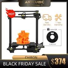 ANYCUBIC כירון anycubic 3d מדפסת בתוספת גודל 400x400x450mm Extruder הכפול Z ציר PLA נימה ערכות impresora 3d דרוקר