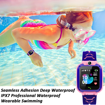 Q12 Kids Smart Watch SOS Phone Watch Smartwatch Kids 2G Sim Card Smart Phone IP67 Waterproof Children's Smart Watch Gift Clock 3