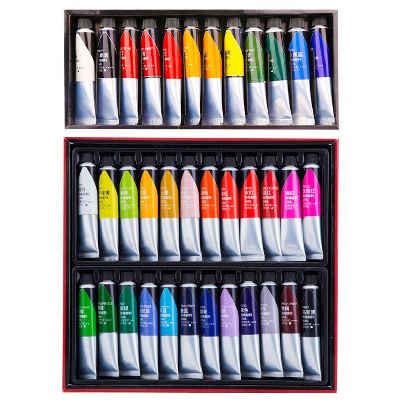 Pintura acrílica profesional, 12/24 colores, 20ml, pintura de dibujo, pigmento, pintura a mano|Pinturas acrílicas| - AliExpress