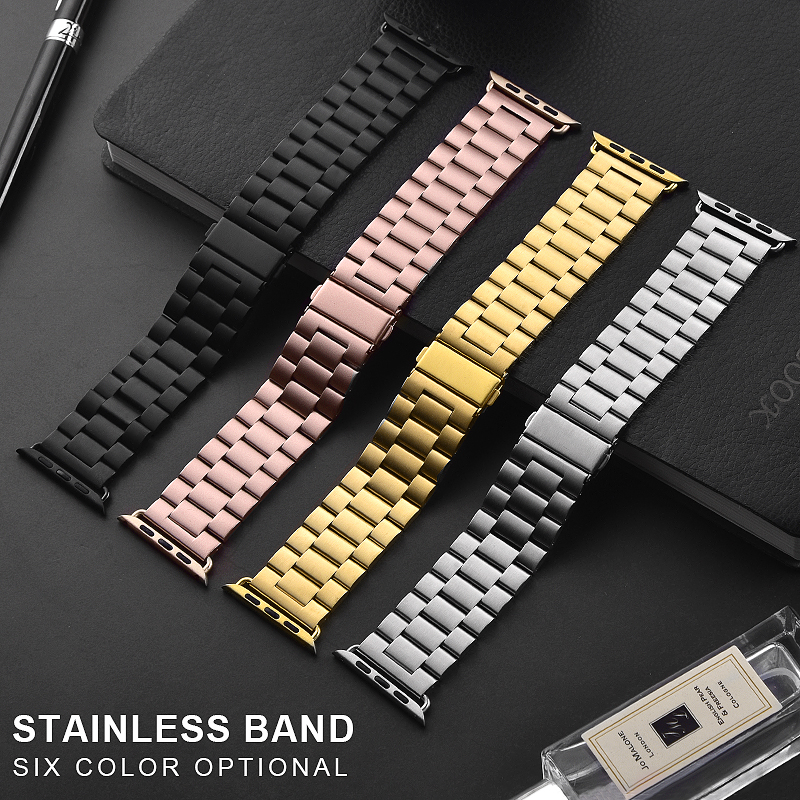 Stainless Steel Strap For Apple Watch Band 38mm 40mm 42mm 44mm Metal Links Bracelet Apple IWatch Series 1 2 3 4 5
