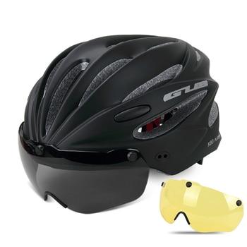 GUB K80 Cycling Helmet with Visor Magnetic Goggles Integrally-molded 58-62cm for Men Women MTB Road Bicycle  Bike Helmet 13