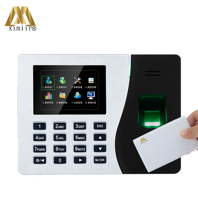 Biometric Fingerprint Time Attendance System K14 With 13.56MHz IC Card Fingerprint Time Recorder Free Shipping!!