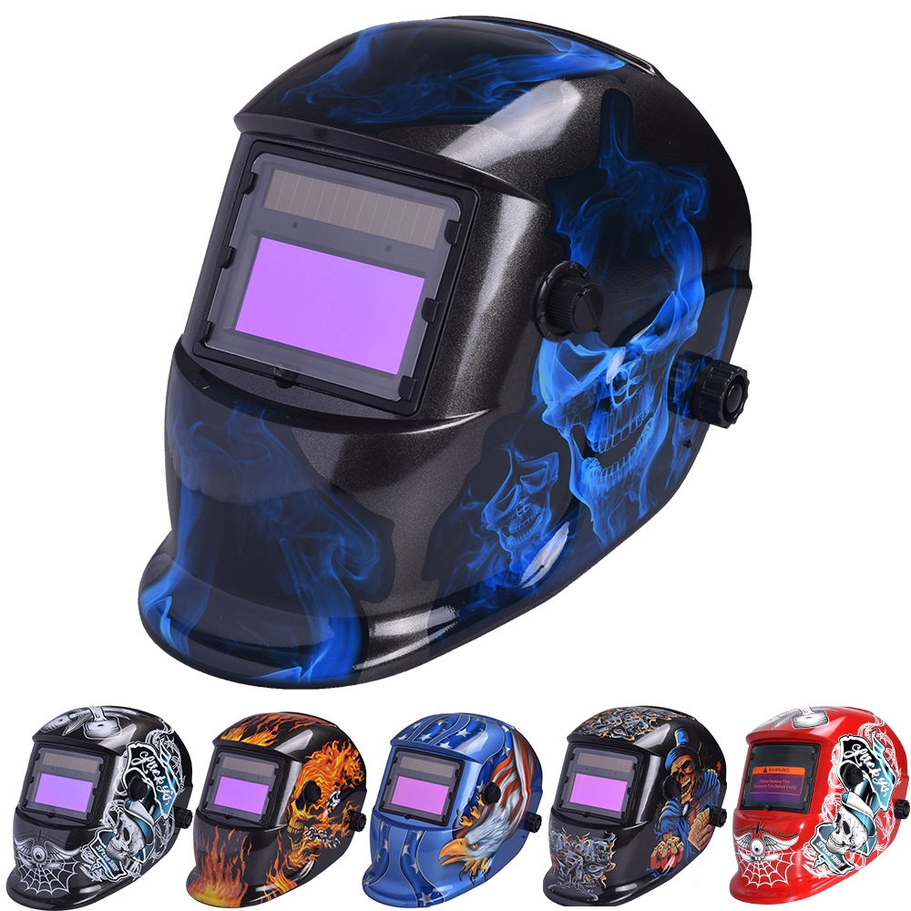 Auto Darkening Adjustable Range MIG MMA Electric Welding Mask Helmet Welding Lens For Welding Machine