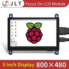 Jrp5008 monitor hdmi 480*854 tela de toque capacitivo raspberry pi 4 3b +/pc/banana pi módulo exibição 5 polegada