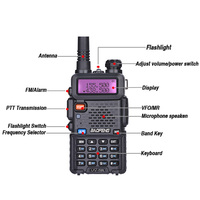 uv 5r 2pcs Baofeng UV-5R מכשיר הקשר UHF VHF ציד רדיו Baofeng UV 5R Ham Radio Station כף יד CB רדיו Comunicador Walky טוקי (3)
