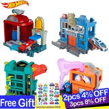 Hot Wheels Original City Theme Hot Trolley Urban Series Car Track Toys for Children Oyuncak Araba Car Model Accessories Playset