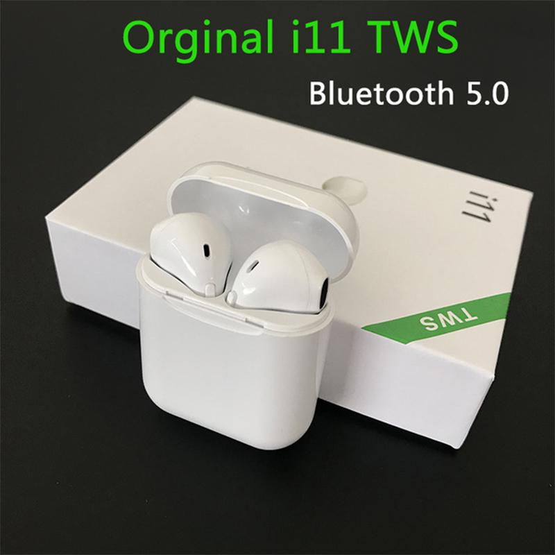 <font><b>i11</b></font> <font><b>TWS</b></font> <font><b>Bluetooth</b></font> <font><b>5.0</b></font> Wireless Earphones Earpieces mini Earbuds i7s With Mic For iPhone 11 pro Max Samsung S10 Xiaomi Huawei LG image