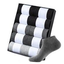 10 Pairs/Lot 2020 Men's Cotton Boat Socks Black Business Sho