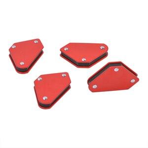Image 4 - 4 adet/grup 4 kaynak mıknatıs manyetik kare tutucu ok kelepçe 45 90 135 9LB manyetik kelepçe elektrik kaynak demir araçları
