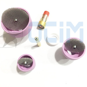 Image 3 - tig welding torch Ceramic Nozzle Cups +Strainer Mesh+Collet+Gas Lens For WP9/20