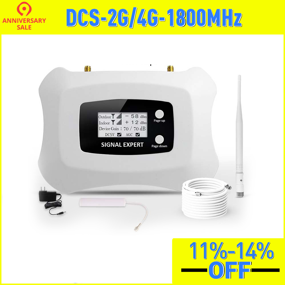 2020 New Upgrade LCD Display Global Frequency 2G 4G LTE DCS 1800mhz Mobile Signal Repeater/signal Booster Amplifier For 2G4G Kit