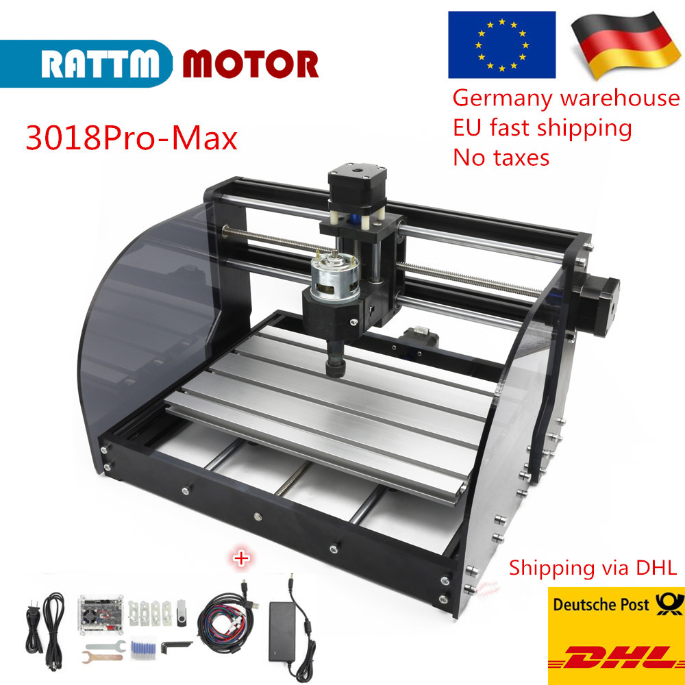 EU Free Vat 3 Axis GRBL Control <font><b>CNC</b></font> 3018 Pro <font><b>Max</b></font> Mini Laser engraving cutting Machine with ER11 collet image