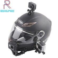 Brazo adhesivo curvo para casco de motocicleta, accesorios para Cámara de Acción Xiaomi yi 4K Gopro Hero 9 8 7 6 5 SJCAM sj4000 Eken H9