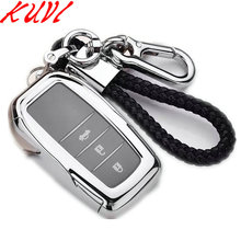 For Toyota Hilux Fortuner Land Cruiser Camry TPU Remote Key Case Fob Shell Cover Skin Holder 3 Button 2016 2017 2018 soft tpu car key case cover keychain for toyota avalon 8 camry 2019 levin ioza chr