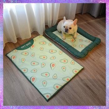 Łóżko dla psa miękka mata dla psa chłodzenie lato Pad mata dla kocyk dla zwierząt domowych Sofa oddychająca łóżko dla psa letnie zaopatrzenie dla piesków wyluzowany pies łóżko dla psa tanie i dobre opinie CN (pochodzenie) Pranie ręczne maty na łóżko 100 bawełna