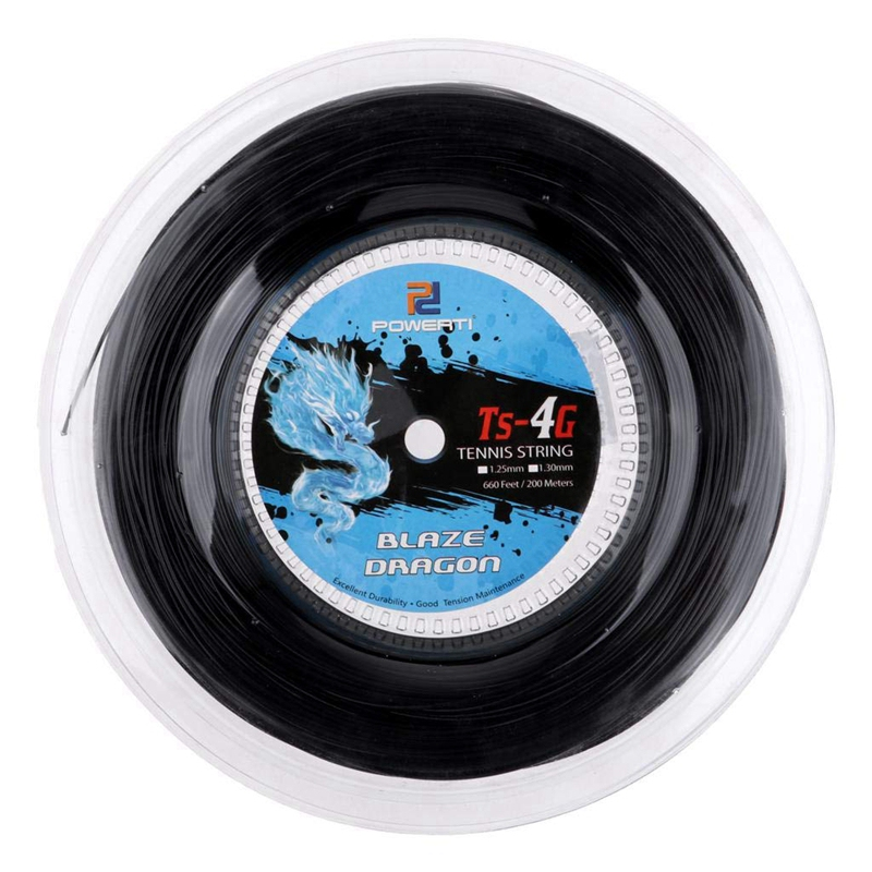 Super Sell-Powerti Tennis String 4G Polyester Training Racket String 200M Reel Gym Sport