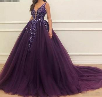 Púrpura con reborde sin mangas vestido De fiesta Vestidos 2020 Vestidos De...