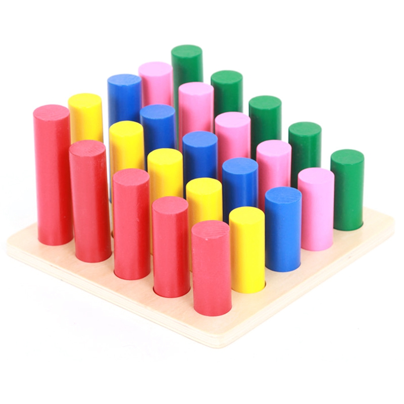 Hot-Educational Wooden Toys For Children Geometry Ladder Toy Baby Development Practice And Senses Toys