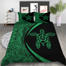 Thumbedding King Size Bedding Set Turtle Mysterious Soft Duvet Cover Green Queen Twin Full Single Double Unique Design Bed Set
