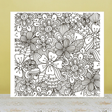 AZSG Decorative flower Clear Stamps For DIY Scrapbooking/Card Making/Album Decorative Rubber Stamp Crafts