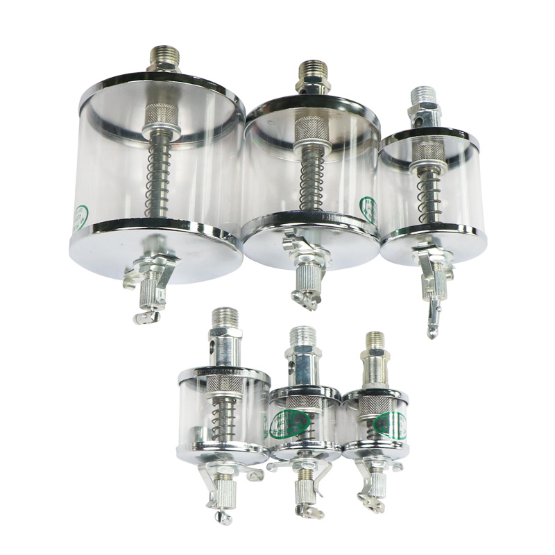 1pc 16-400ML Capacity Oiler Needle Valve Oil Cup Clear Plexiglass Lubricator Gravity Drip Feed Oiler  Machine Replacement Part