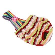 Новинка года, милая высококачественная одежда для домашних животных в горошек, штаны трусы для домашних животных, одежда для девочек