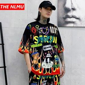Camisetas divertidas de Harajuku para hombre, camiseta de dibujo grafiti a la moda, ropa de calle, camisetas de primavera 2020 para hombre y mujer, camisetas de Hip Hop WG856