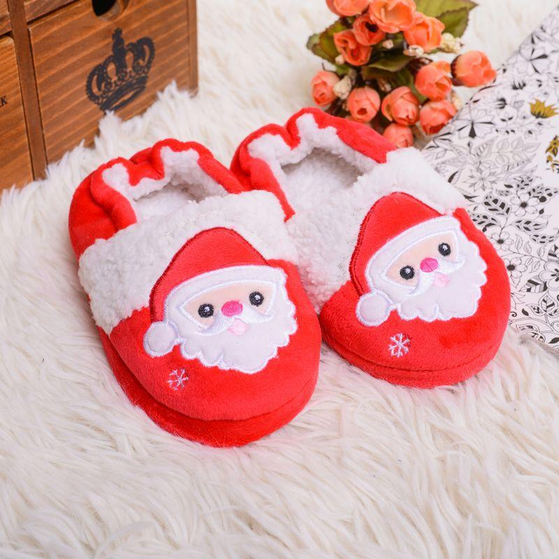 2019 New Children's Cotton Slippers Indoor Mute Men and Women Children's Santa Claus Gift Cotton Slippers  Christmas Slippers|Slippers| |  - title=