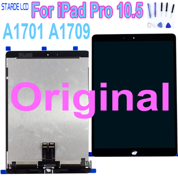 """STARDE AAA Quality Replacement LCD For iPad Pro 10.5 A1701 A1709 LCD Display Touch Screen Digitizer Assembly 10.5"""" Black White"""