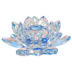 80 мм Цветок лотоса ремесла стекло пресс-папье фэн-шуй украшения статуэтки дома Свадебная вечеринка Декор подарки сувенир