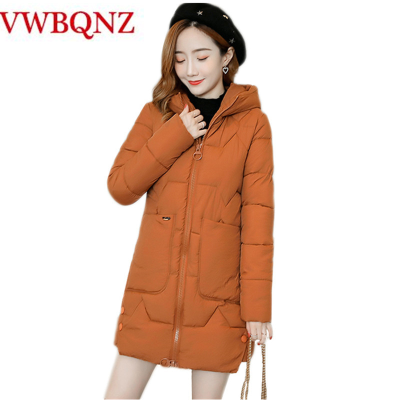 Nueva parka para mujer 2019 chaqueta de invierno abrigos para mujer Abrigos con capucha para mujer Parka cálida de algodón acolchado suelto invierno abrigos femeninos 3XL