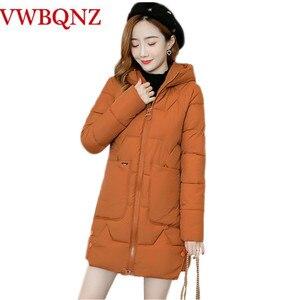 Image 1 - Parka chaud pour femme, manteaux femme, à capuche, en coton chaud, rembourré, ample, nouvelle collection dhiver 2020, 3XL