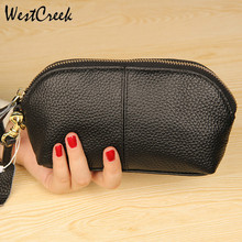 Fashion New Women Bags Cow Leather Womens Wallets and Purses Genuine Leather Ladies Shell Bags High Quality