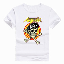 Asian Size Print Rock Metal Anthrax Music Band T-shirt Short sleeve O-Neck Tshirt For Men And man HCP981