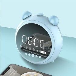 KR-8100 Wireless Speaker Bluetooth 5.0 Digital Display LED Alarm Clock Night Light FM Radio Stereo Bass Subwoofer HiFi Speaker