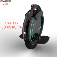 Acquisition Original INMOTION V10 Unicycle Self Balancing Electric Scooter 1800W Build-in Handle Hoverboard With Decorative Lamps Long Board dispense