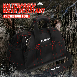 Image 5 - WORKPRO Tool Bags,  Portable Waterproof Electrician Bag Multifunction Canvas Tool Organizer for Repair Installation HVAC