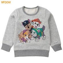 VFOCHI 2019 New Girls Sweatshirts Winter Autumn Thick Children Long Sleeves Sweatshirt Kids Clothes Unisex Boy
