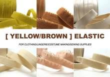 6 jardas nude/marrom cor decorativa padrão lingerie elástica | bandana elástica | elástico magro | laço elástico estreito | sutiã cinta