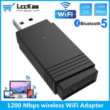 Lcckaa Usb 3.0 Wifi 1200Mbps Adapter Dual Band 2.4Ghz/5.8Ghz Bluetooth 5.0/Wifi 2 In 1 Antenne Dongle Adapter Voor Pc Laptops